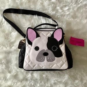 Betsey Johnson Lunch Tote French Bulldog